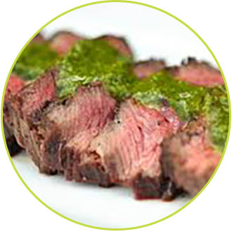 beef with chimi - ala carte events and catering
