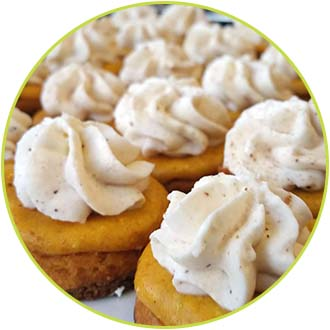 Pumpkin Cheesecake Bites with Gingersnap Crust copy